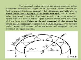Толқындардың жайын сипаттайтын жалпы принципті алғаш Ньютонның замандасы Гол