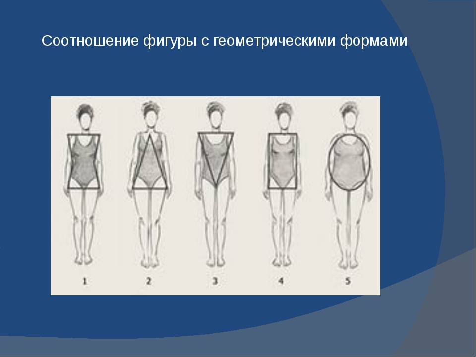 Соотношение фигуры с геометрическими формами