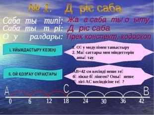 І. ҰЙЫМДАСТЫРУ КЕЗЕҢІ ІІ. ОЙ ҚОЗҒАУ СҰРАҚТАРЫ 1. Оқу модулімен таныстыру 2. М