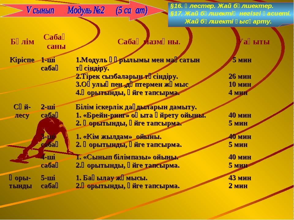 §16. Үлестер. Жай бөлшектер. §17. Жай бөлшектің негізгі қасиеті. Жай бөлшекті...