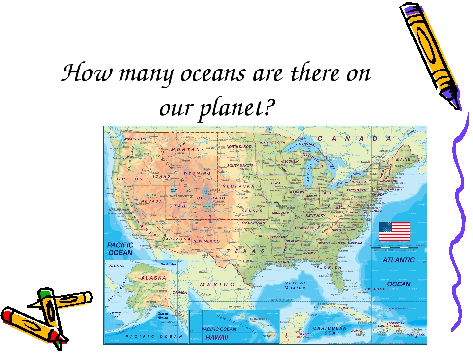 How many oceans are there on our planet?