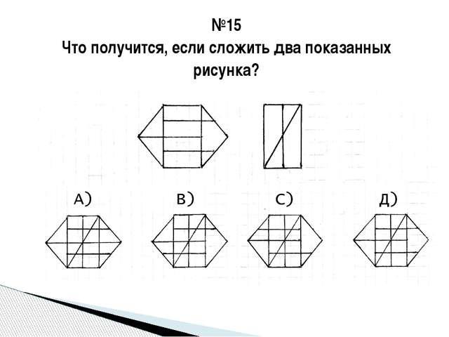 №15 Что получится, если сложить два показанных рисунка?