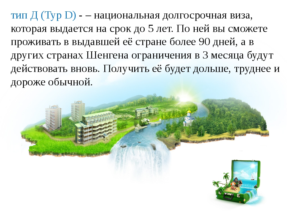 тип Д (Typ D) -– национальная долгосрочная виза, которая выдается на срок до...