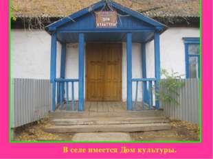 В селе имеется Дом культуры.