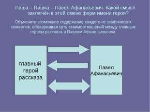 Паша – Пашка – Павел Афанасьевич. Какой смысл заключён в этой смене форм имен