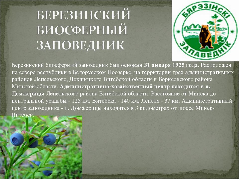 Березинский биосферный заповедник был основан 31 января 1925 года. Расположен...