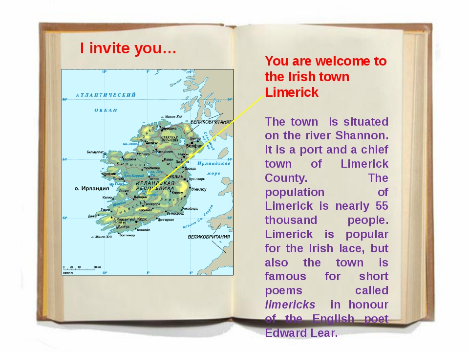 You are welcome to the Irish town Limerick The town is situated on the river...