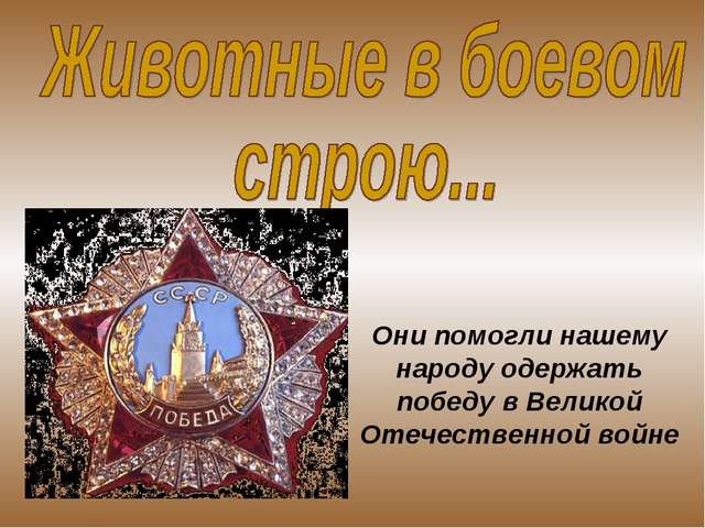 Они помогли нашему народу одержать победу в Великой Отечественной войне