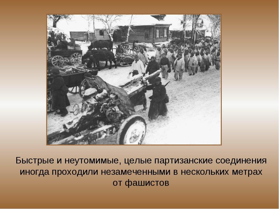 Быстрые и неутомимые, целые партизанские соединения иногда проходили незамече...