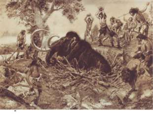 «охота на мамонта» поздний палеолит
