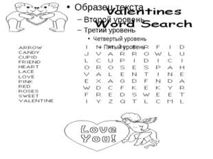 Task 3 (Valentines Word Search)