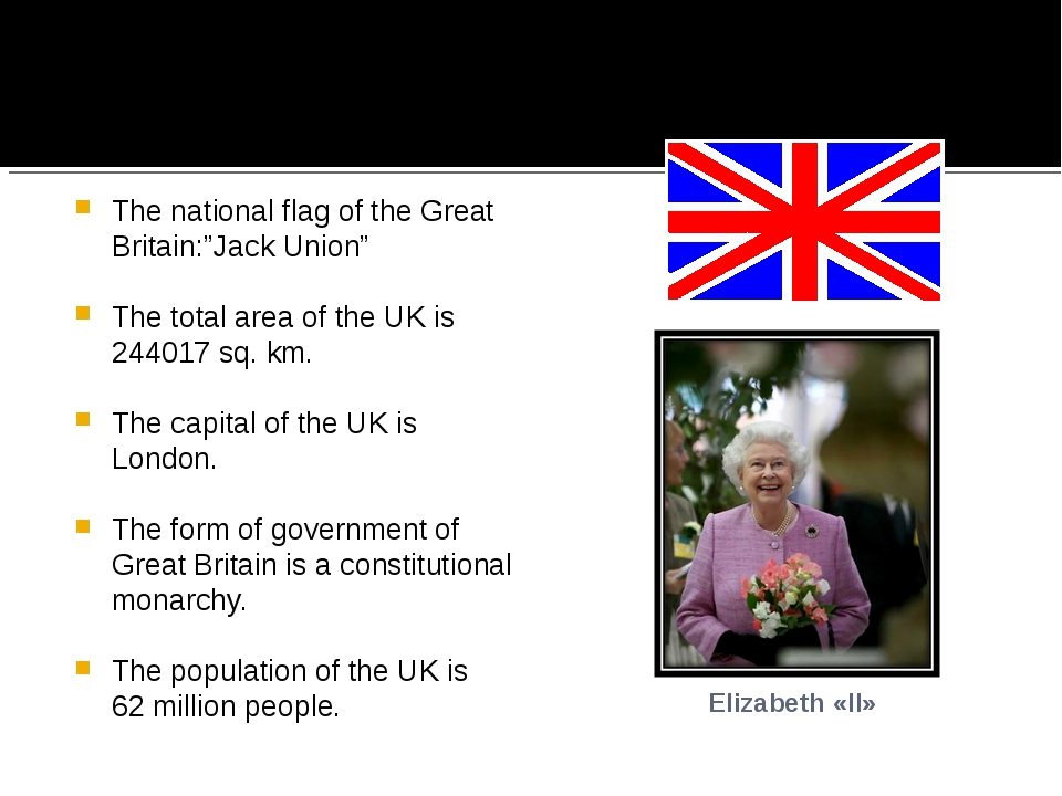 "The national flag of the Great Britain:""Jack Union"" The total area of the UK..."