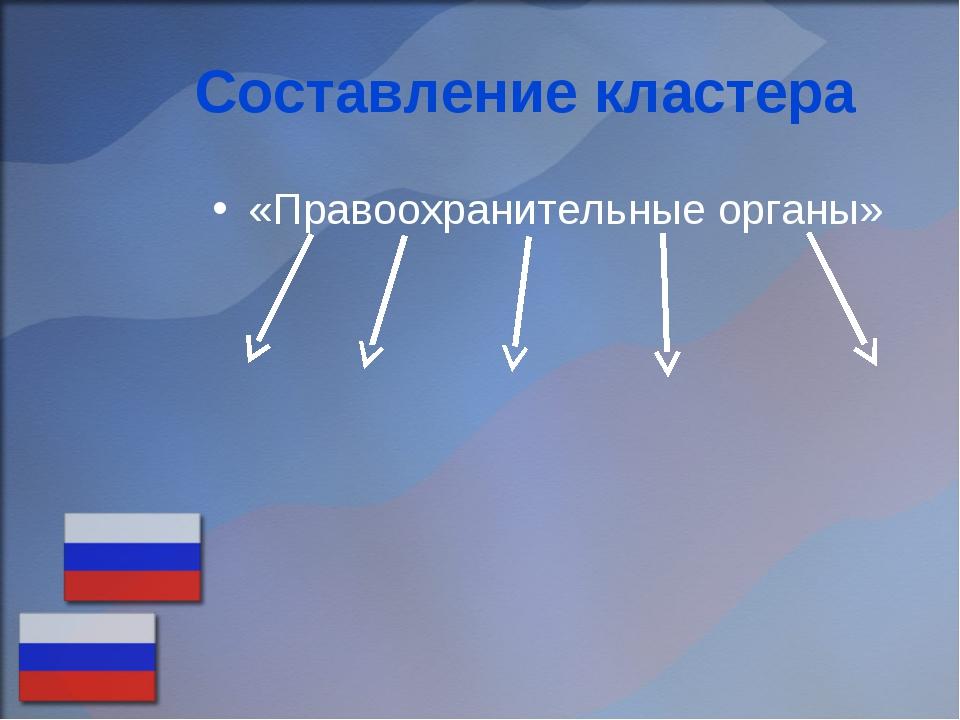 Составление кластера «Правоохранительные органы»