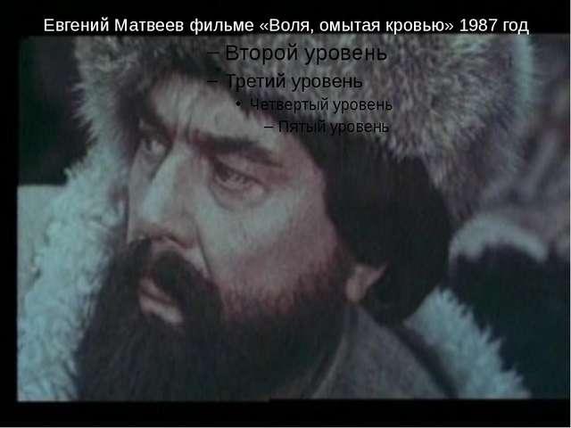 Евгений Матвеев фильме «Воля, омытая кровью» 1987 год