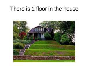 There is 1 floor in the house