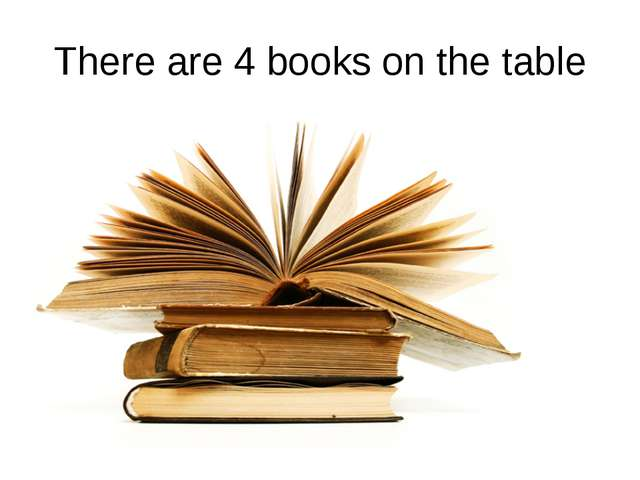 There are 4 books on the table