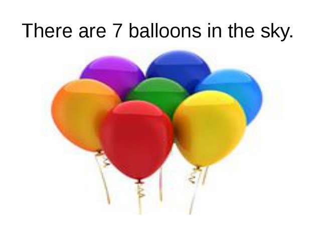 There are 7 balloons in the sky.