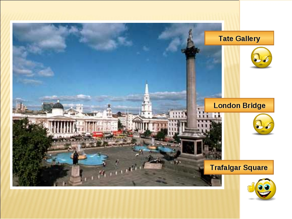 Trafalgar Square London Bridge Tate Gallery