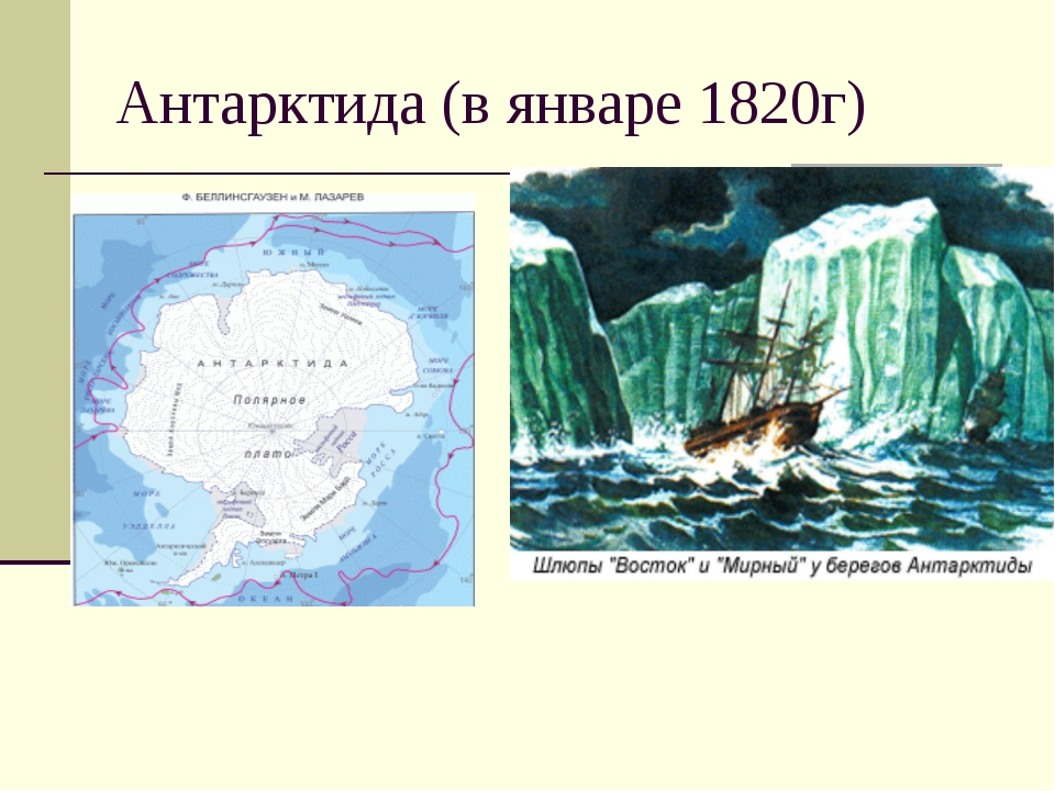 Антарктида (в январе 1820г)