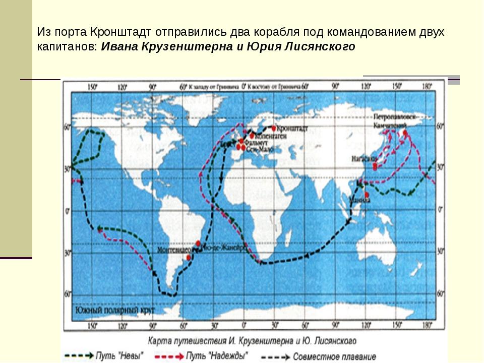Из порта Кронштадт отправились два корабля под командованием двух капитанов:...