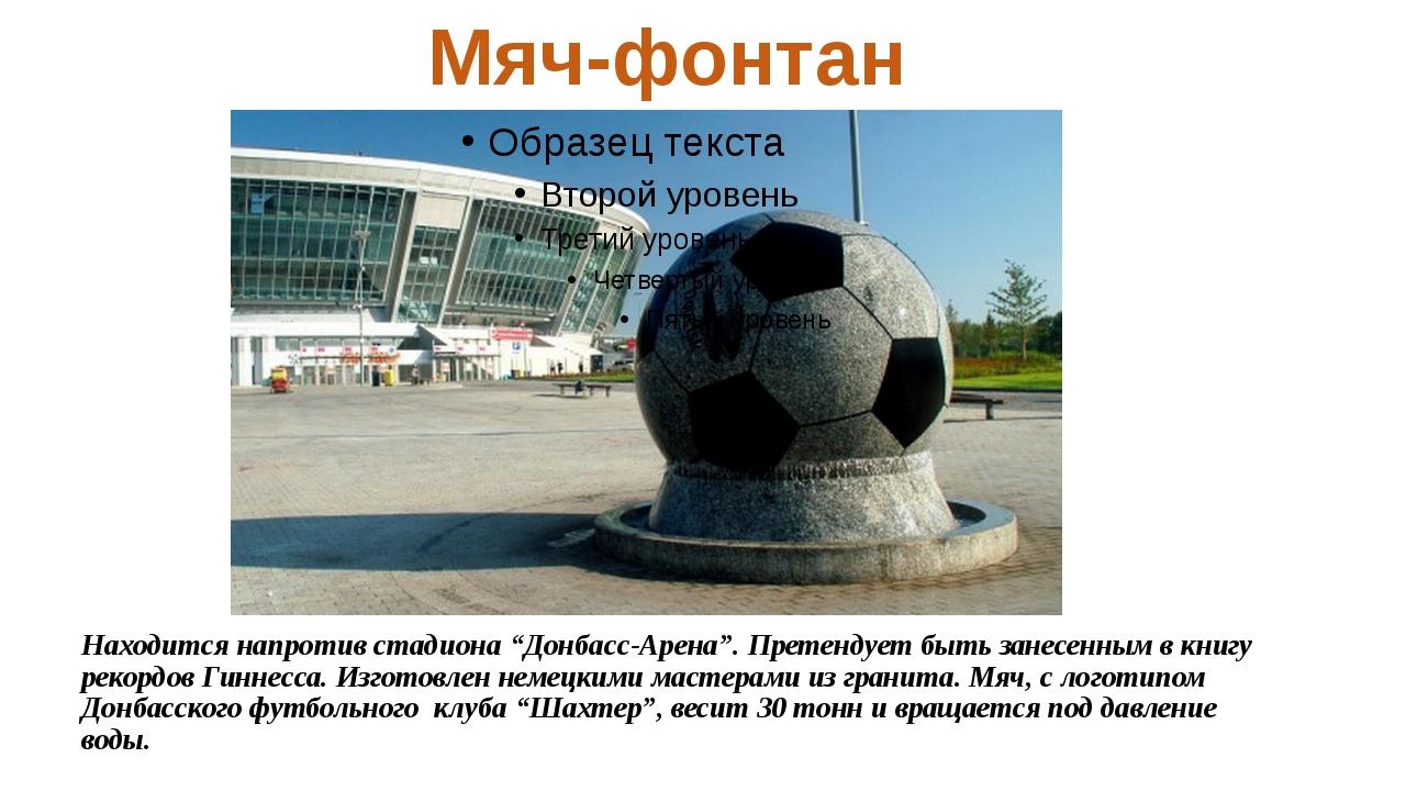 """Находится напротив стадиона """"Донбасс-Арена"""". Претендует быть занесенным в кни..."""