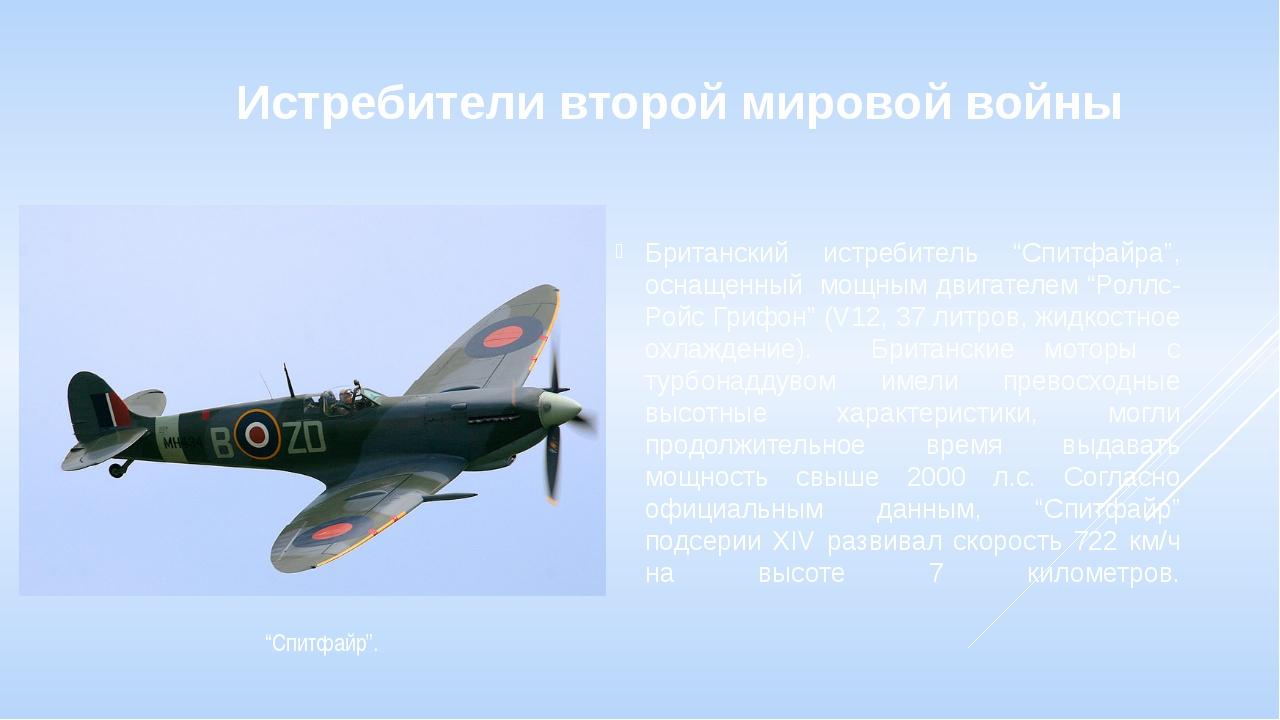 """Истребители второй мировой войны Британский истребитель """"Спитфайра"""", оснащенн..."""