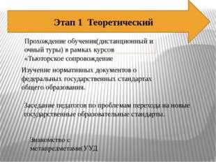 Этап 1 Теоретический Прохождение обучения(дистанционный и очный туры) в рамка