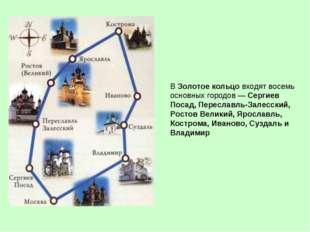 В Золотое кольцо входят восемь основных городов— Сергиев Посад, Переславль-З
