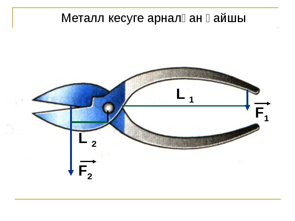 Металл кесуге арналған қайшы F2 L 2 F1 L 1