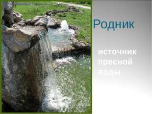 Родник источник пресной воды