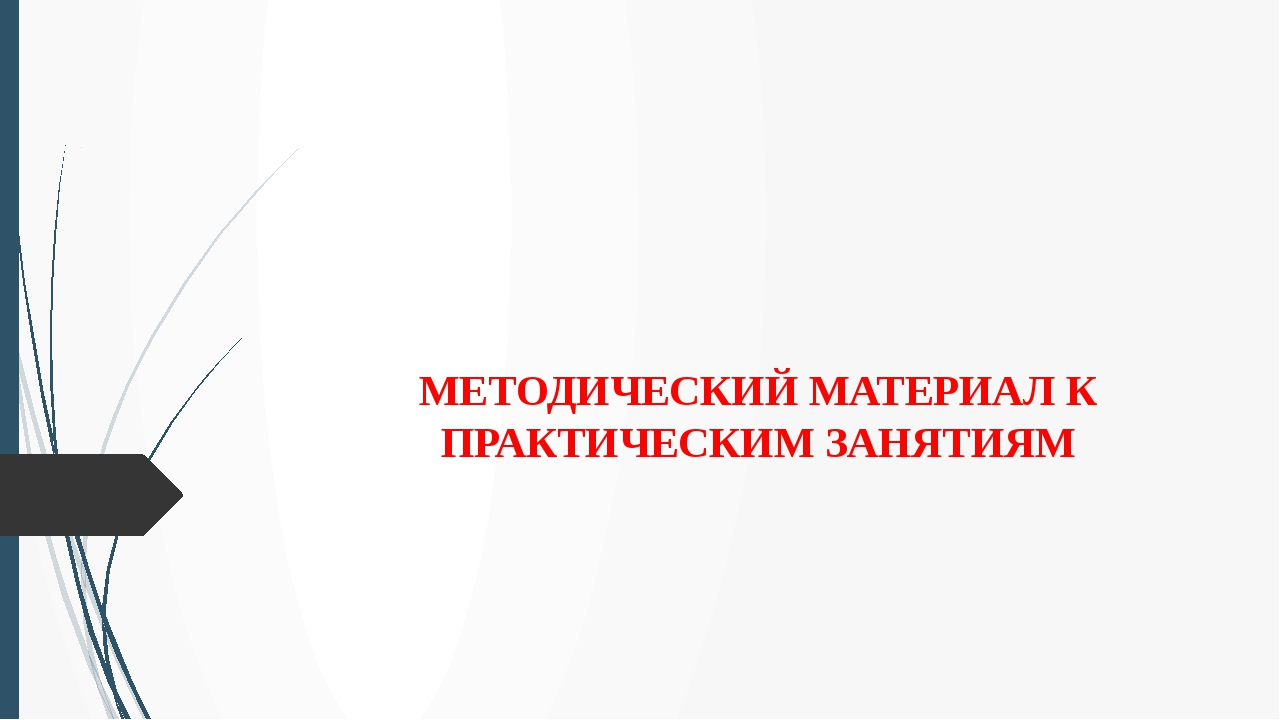 МЕТОДИЧЕСКИЙ МАТЕРИАЛ К ПРАКТИЧЕСКИМ ЗАНЯТИЯМ