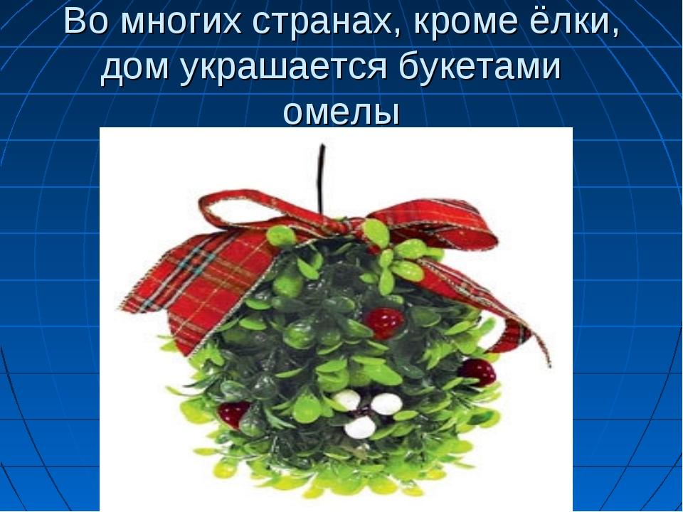 Во многих странах, кроме ёлки, дом украшается букетами омелы