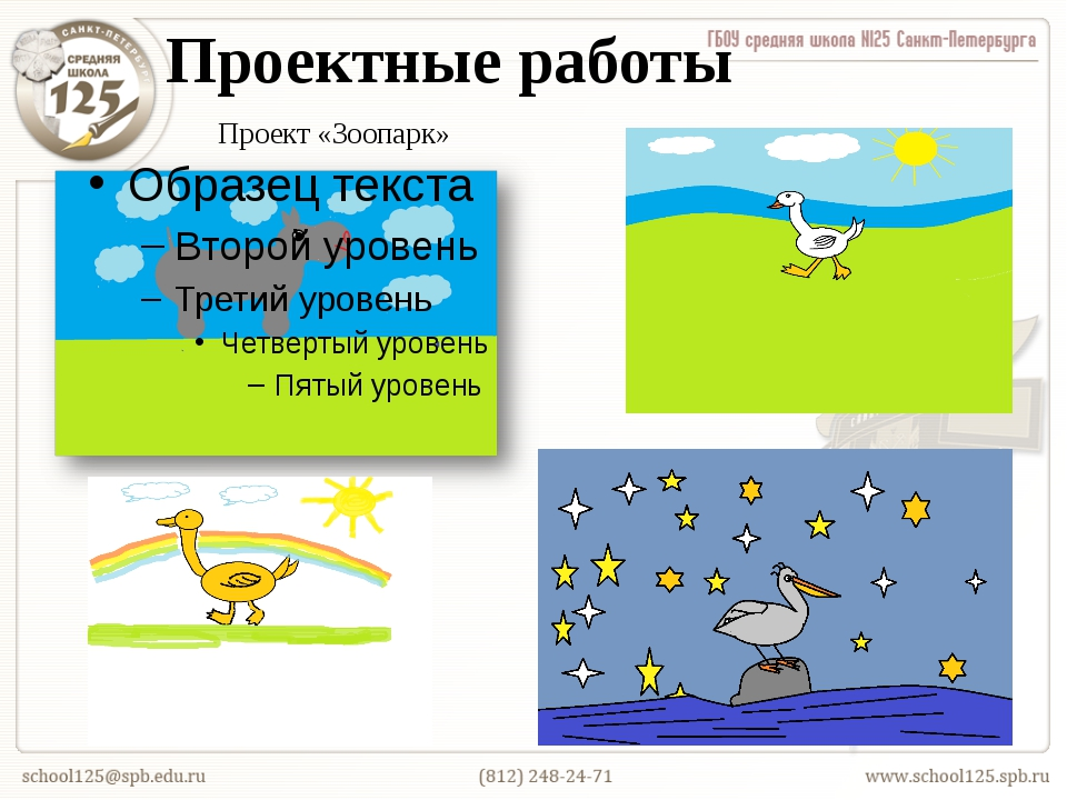Проектные работы Проект «Зоопарк»