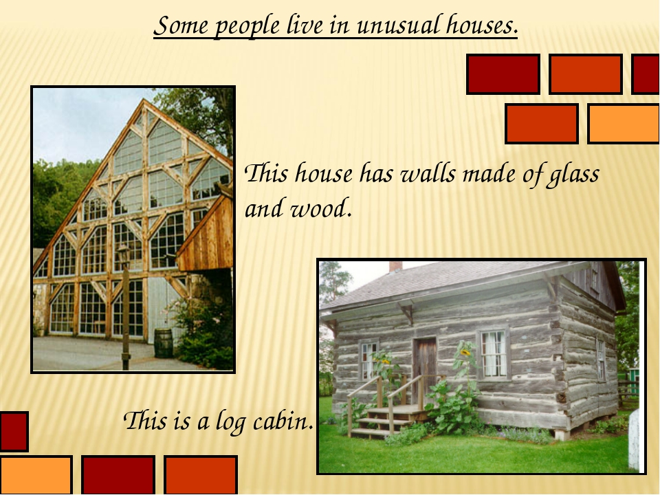 Some people live in unusual houses. This house has walls made of glass and wo...