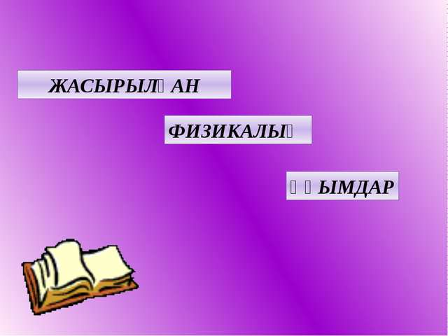 ЖАСЫРЫЛҒАН ФИЗИКАЛЫҚ ҰҒЫМДАР