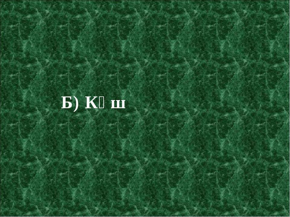 Б) Күш