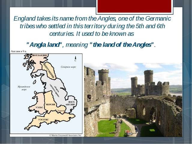 England takes its name from the Angles, one of the Germanic tribes who settle...