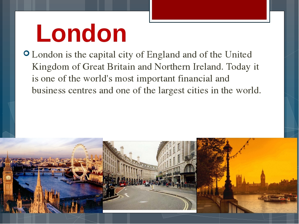 London London is the capital city of England and of the United Kingdom of Gre...
