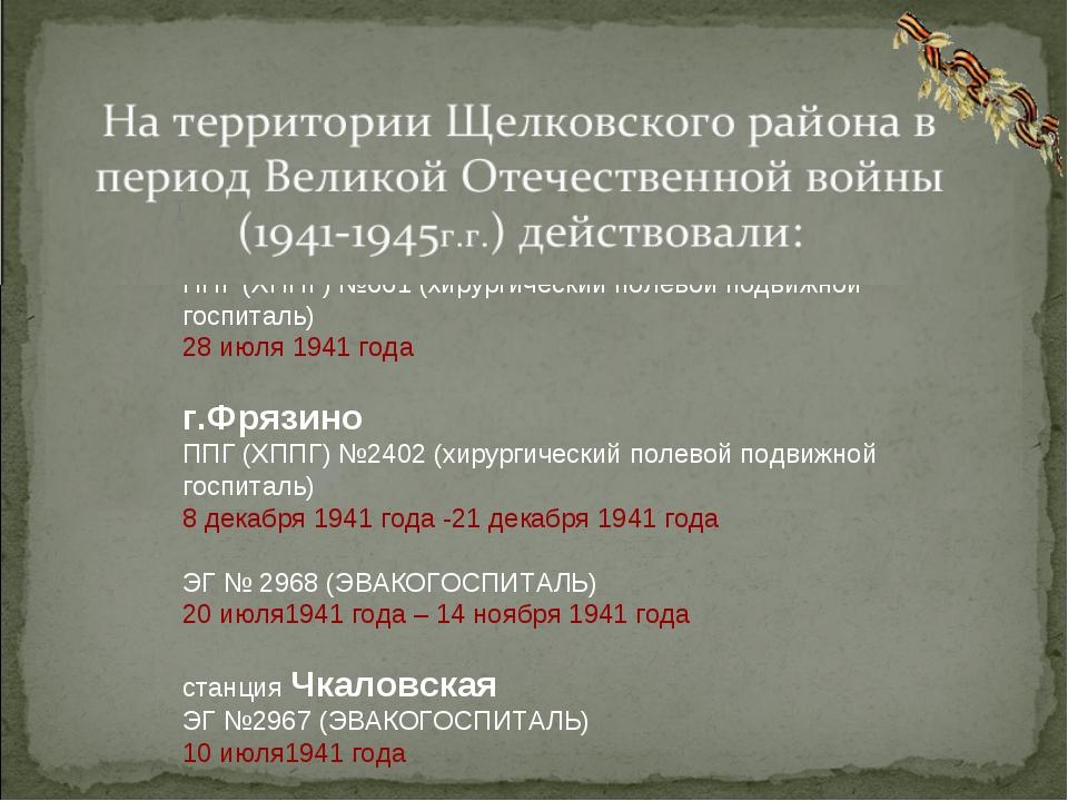 Поселок Свердловский Щелковского района Московской области УГПЭП и ЭП № 58 (Э...