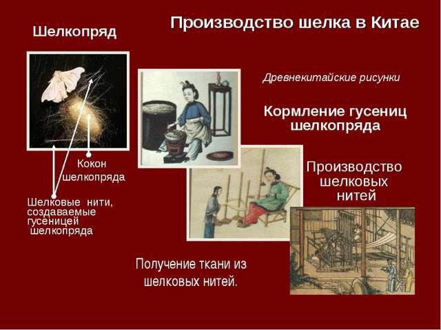 Производство шелка в Китае Шелкопряд Кокон шелкопряда Шелковые нити, создавае...