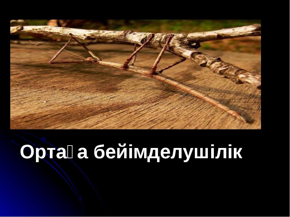 Ортаға бейімделушілік