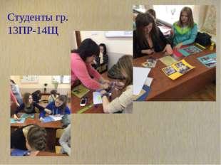 Студенты гр. 13ПР-14Щ