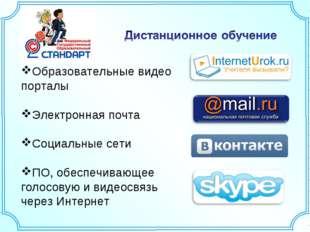 Образовательные видео порталы Электронная почта Социальные сети ПО, обеспечив