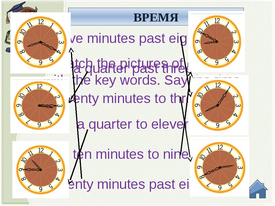 ВРЕМЯ Say the time