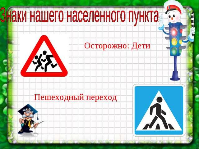 Осторожно: Дети Пешеходный переход