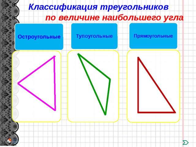 Какой треугольник лишний? Остроугольные треугольники