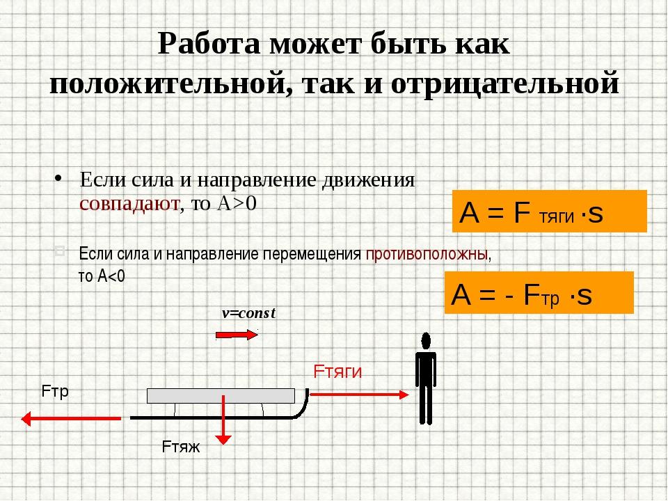 Задача: В каком случае совершается механическая работа? 1 2 3 Fт F v Брусок п...