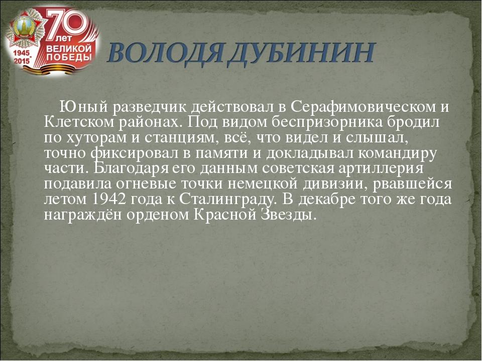 Юный разведчик действовал в Серафимовическом и Клетском районах. Под видом б...