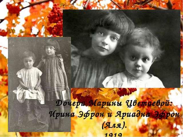 Дочери Марины Цветаевой: Ирина Эфрон и Ариадна Эфрон (Аля). 1919.