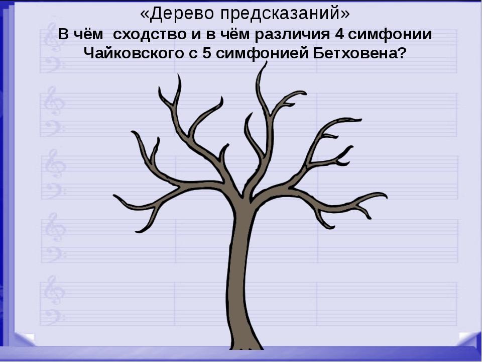 «Дерево предсказаний» В чём сходство и в чём различия 4 симфонии Чайковского...